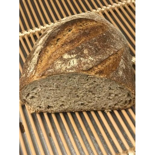 Pâine cu făină integrală de grâu jumatate